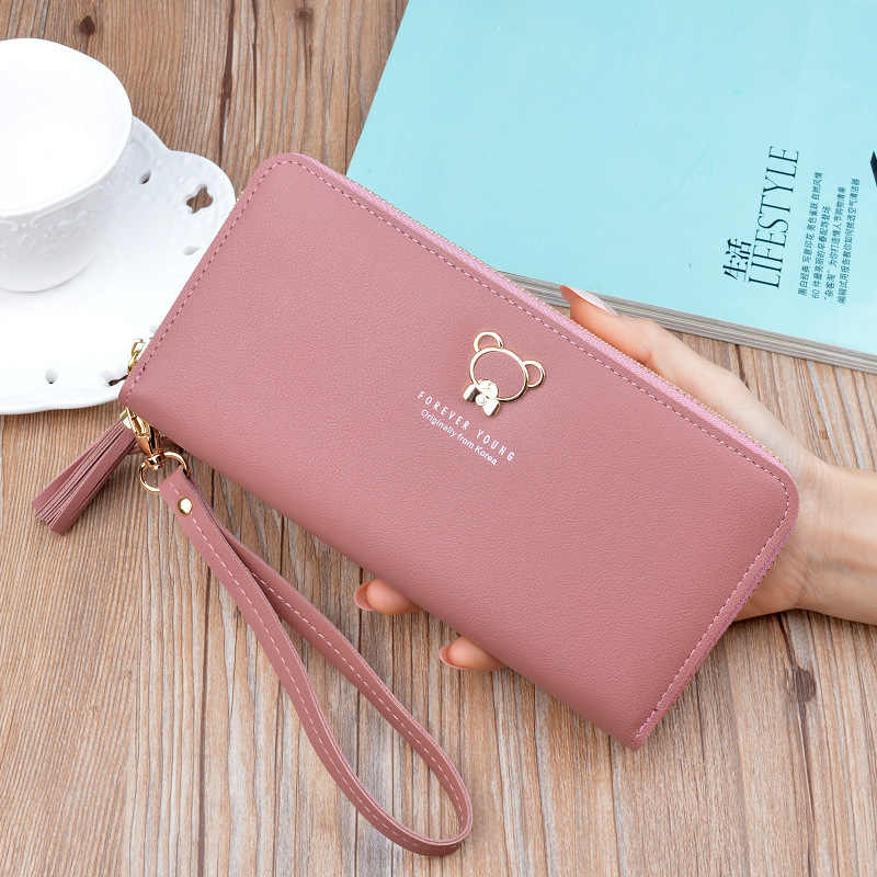 ... Hot Selling Long Wallets Women Trendy Purses Korean Style Money Bag  Multifunctional Zipper Wallets Forever Young ... fa10bd9a8