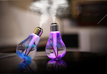 ФОТО mini colorful change led novelty lamp for home office usb led night light bulb with 400ml air humidifier