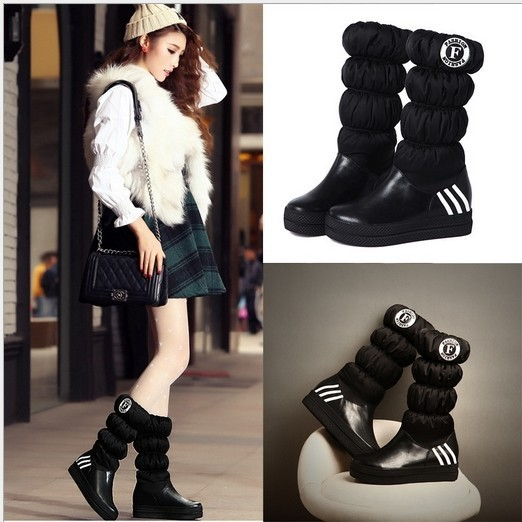fashion boots for womens snow boots women black leather riding boots for  girls cute on sale in online shop 8d6f76bc6
