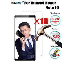 10Pcs Wholesale Cheap Tempered Glass Screen Protector Anti Scratch Film For Huawei Honor Note 10 8X Max Enjoy 9 Plus Y9 2019|Phone Screen Protectors| |  -