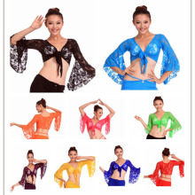 2018 High quality sexy women belly dance tops lace belly dancing clothes on sale