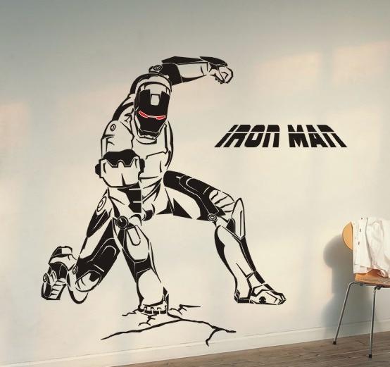 [ Do It ] Iron Man Wall Sticker The Avengers Alliance Cartoon Children TV  Cars Home Part 22