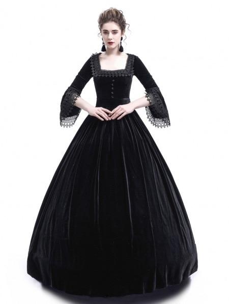 plus size Women Retro Vintage dress Renaissance Gothic Halloween Costumse Medieval Ball Gowns Party Long Dress  for Women