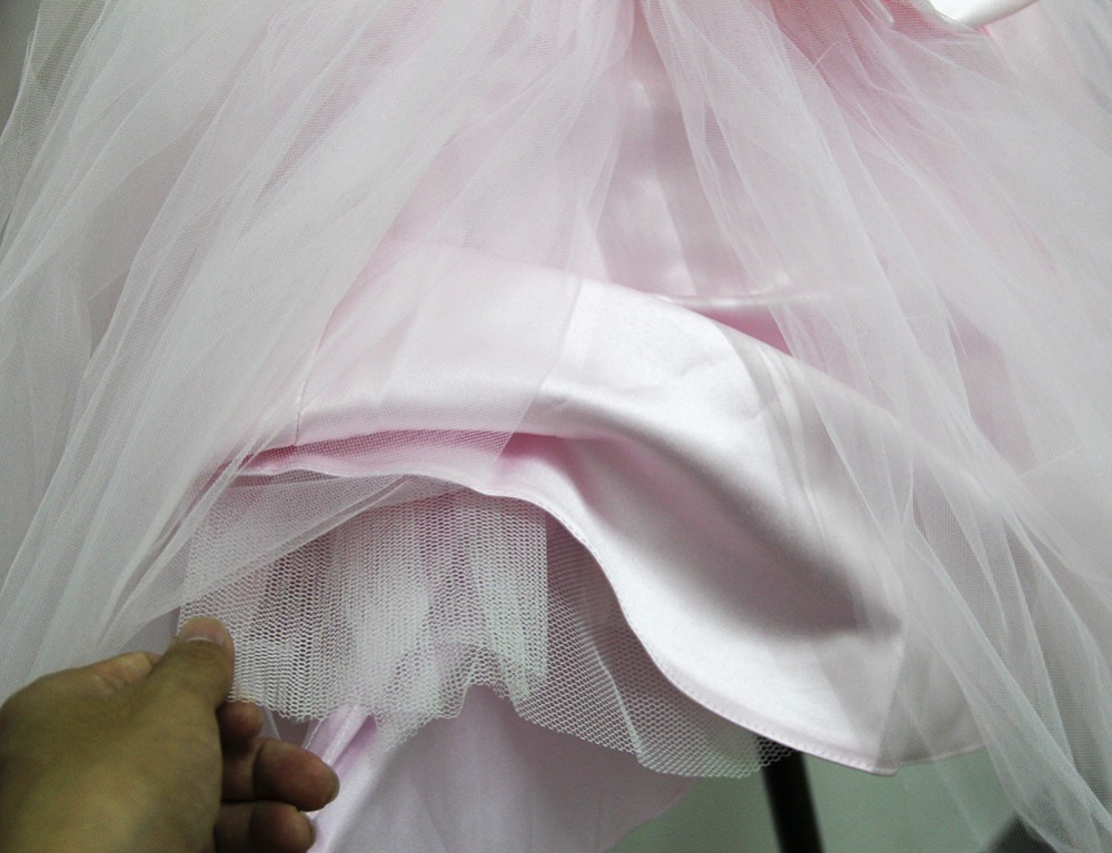 Pink Teen Wedding Dress Sequin Knee Length O-neck Paillette Girls Sequin Dress for Girls Sequin Evening Dress Tutu with Bowknot (22)