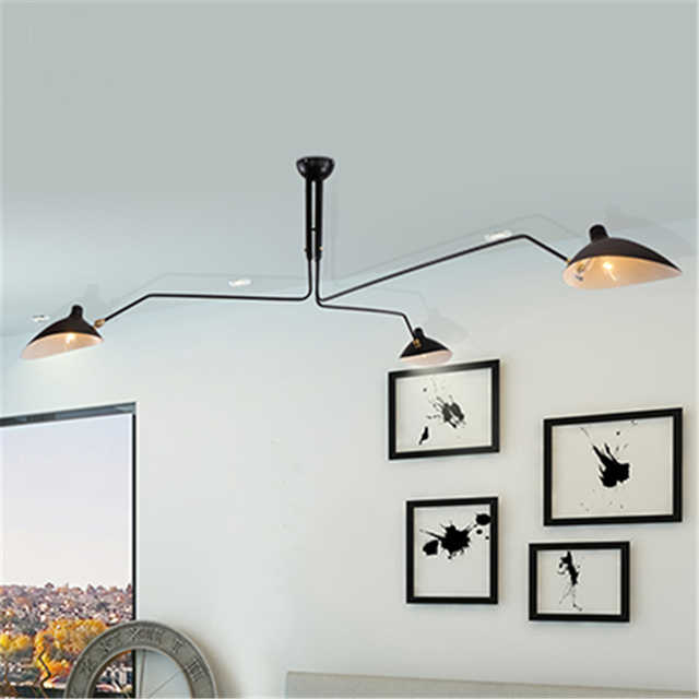 Moderne Dekoration 3 Kopf Wohnzimmer Serge Mouille Deckenleuchte  Schlafzimmer Duck Esszimmer Licht Freies Verschiffen