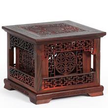 Красный палисандровый ладан горелка коробочка из сандалового дерева изделия из красного дерева резьба по дереву украшения из массива дерева четырехугловая двухслойная коробка для благовоний