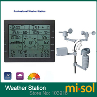 MISOL / professional weather station / wind speed wind direction rain meter pressure temperature humidity UV / with solar charge