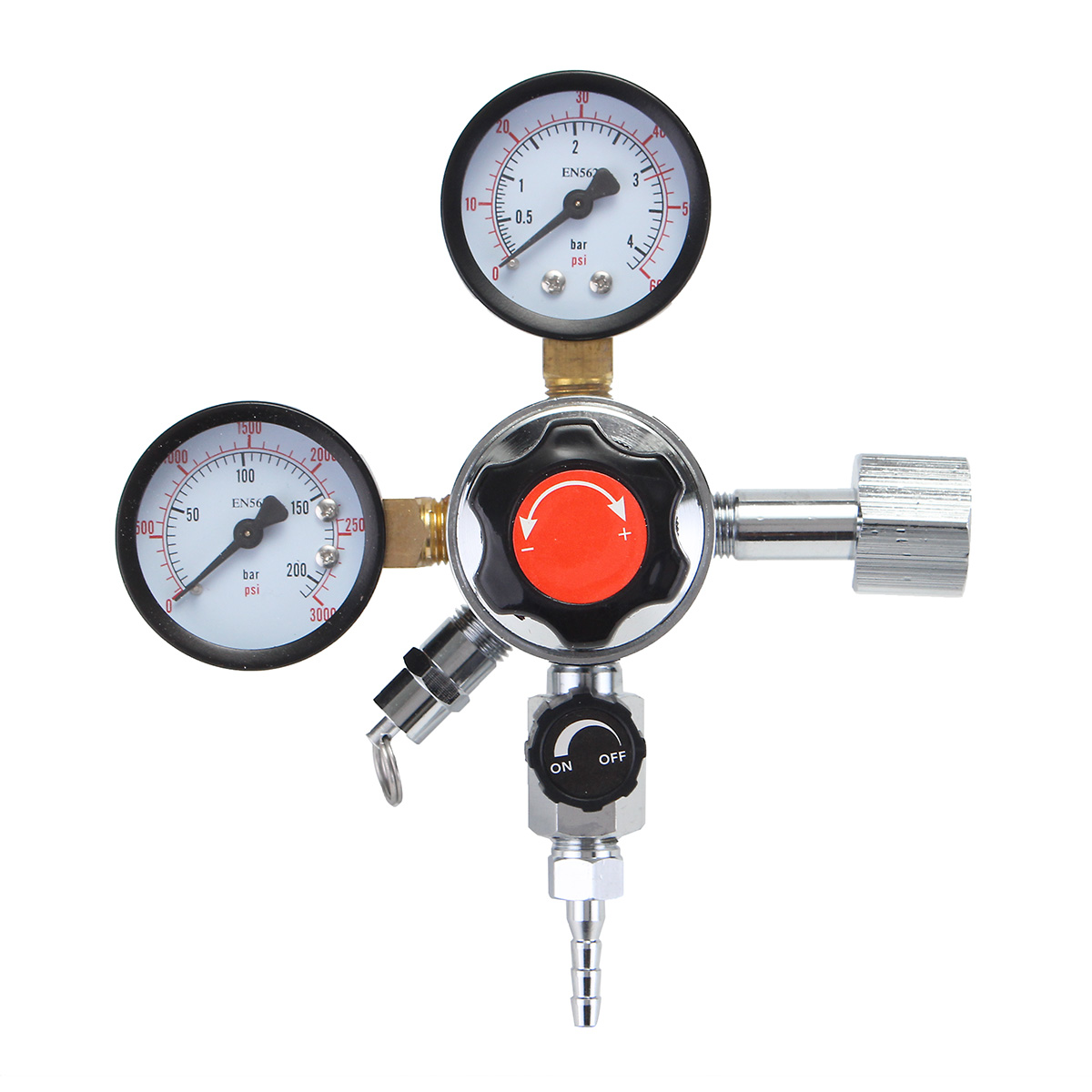 Dual/Triple Gauge CO2 System Regulator Pressure Reducer Flow Meter Valve For Carbon Dioxide Draft Beer / Homebrew 3/16'' 5/16'' цена