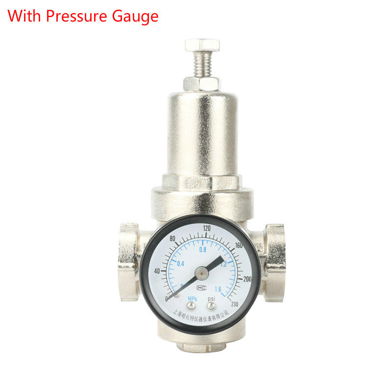 DN15 1/2 Water Pressure Regulator Valves With Pressure Gauge Pressure Maintaining Valve Water Pressure Reducing Valve Brass high pressure freon pressure gauge working together with charging valve check valve to monitor the system leakage changes