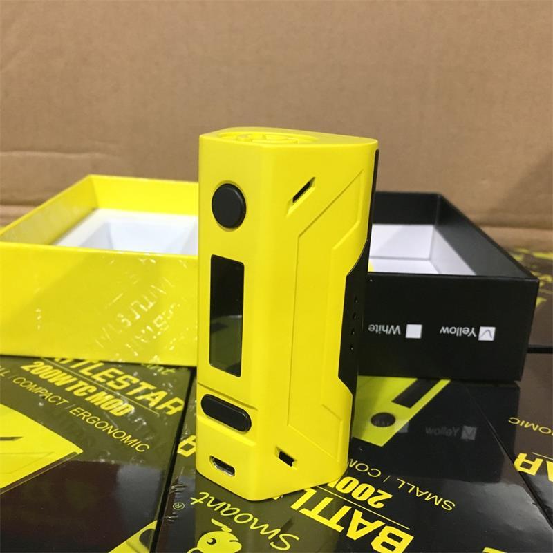 ФОТО 100% Original Smoant Battlestar 200W Mod VW/TC OLED Screen Box Mod Powered by Dual 18650 Batteries VS Wismec Reuleaux RX2/3