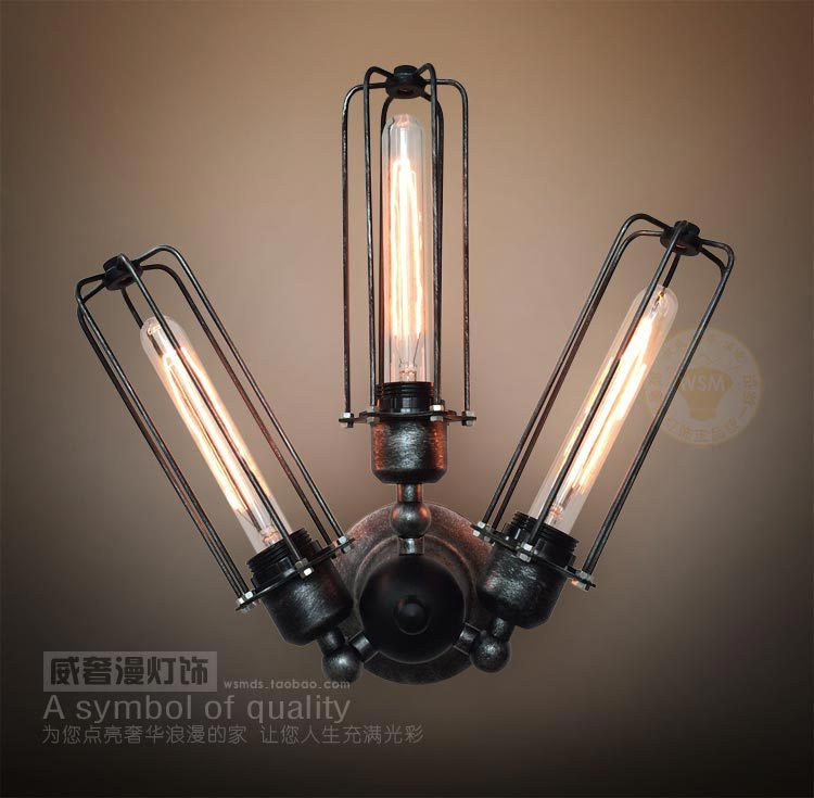 vintage adjustable wall sconces 3 lights steampunk wrought iron
