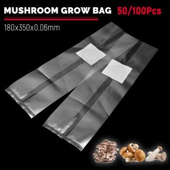 50/100 Pcs Cogumelos Crescem Sacos Preencher com a Desova de Mídia Crescer Alta Temperatura Pré Selável
