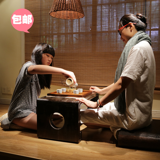 Estilo japonês de madeira janelas e mesa / mesa de café kang kang mesa pequena mesa de café mesa de chá alguns queimar Paulownia tatami tab