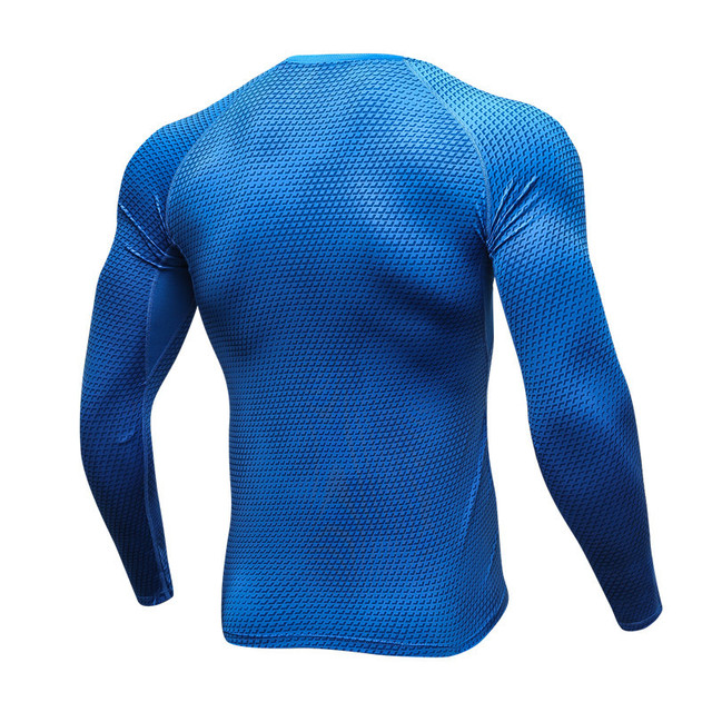 KWAN.Z thermo underwear for men 3D printing compression underwear sweat quick dry underwear men pajamas blouses calzoncillos