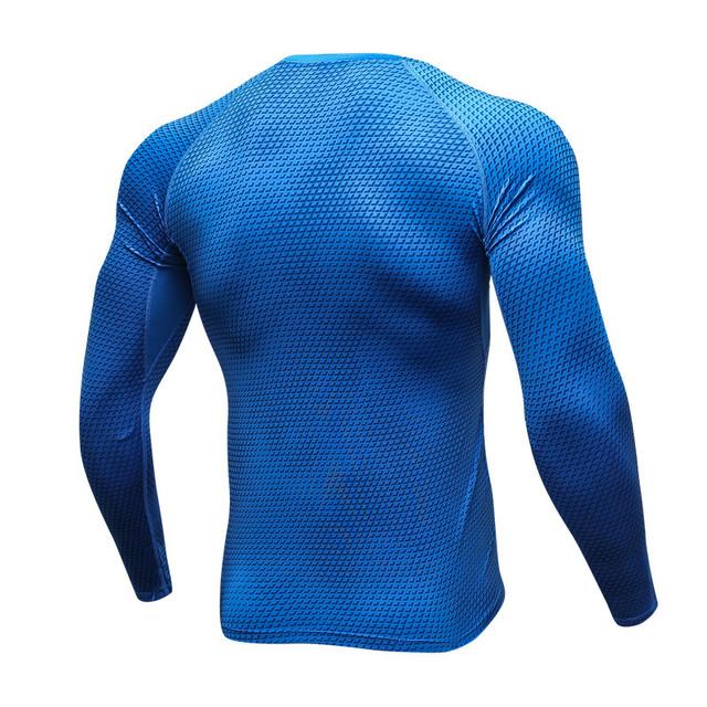 KWAN.Z thermo underwear for men 3D printing compression underwear sweat quick dry underwear men pajamas blouses calzoncillos