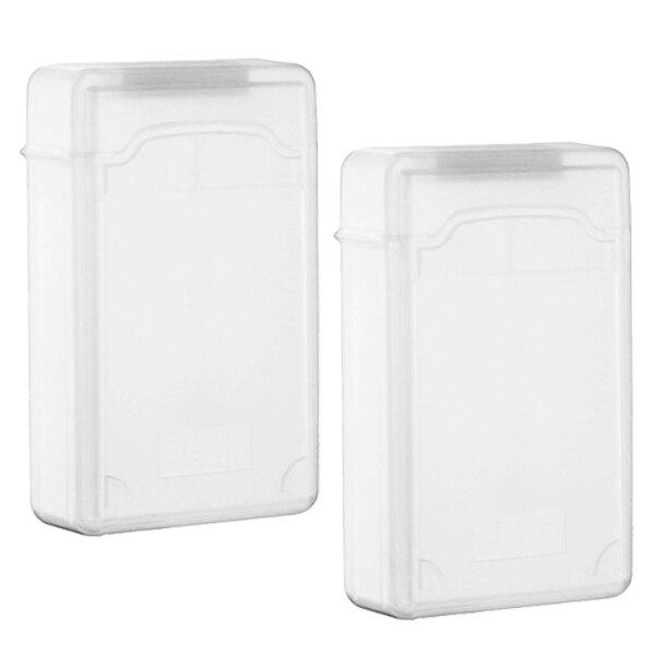 YOC Hot 2 packs Clear 3.5 INCH SATA HDD Hard Drive Storage Case