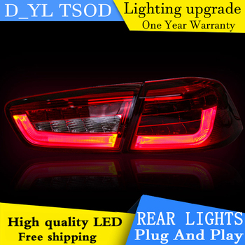 D_YL Car Styling Tail Lamp for Lancer EX Tail Lights Lancer LED Tail Light BMW Design Rear Lamp DRL+Brake+Park+Signal