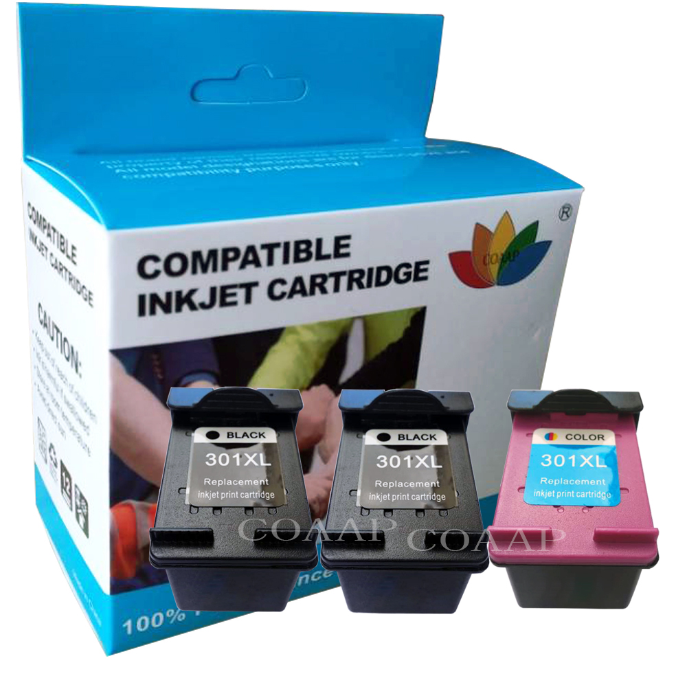 Replacement <font><b>hp301XL</b></font> Refilled Ink Cartridge for HP Envy 4500 4502 4504 4505 5530 5532 5539 Officejet 2620 4630 Printer image