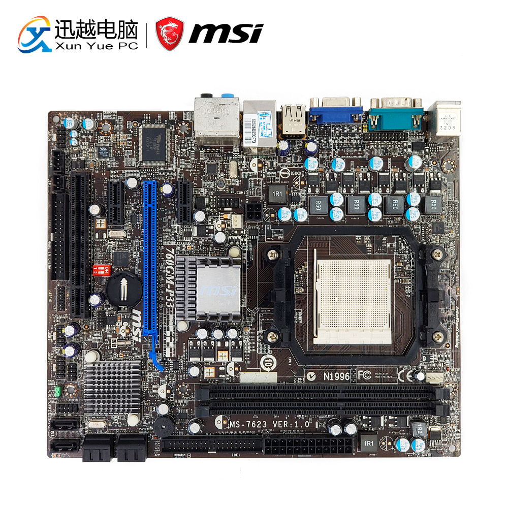 MSI 760GM-P33 Desktop Motherboard 760G Socket AM3+ Phenom II/Athlon II/Sempron DDR3 8G SATA2 USB2.0 Micro ATX msi 960 p43 desktop motherboard 760g socket am3 ddr3 32g sata2 usb2 0 atx