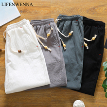 Summer Solid Cotton Shorts Men 2019 New Fashion Loose Comfor