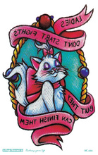 Body Art Sailor Moon Tattoo Sticker Body Art White Cat Kitty In Mirror Temporary Tattoo Terrorist Stickers Flash Taty Tatoo