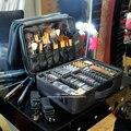 Mujeres Bolso Mujer Caliente de Alta Calidad Profesional del Maquillaje del Organizador Cosmético de Viaje Caja de la Bolsa de Almacenamiento de Gran Capacidad Maletas