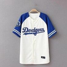 Бейсбол Рубашка Лето 2017 Новый Хип-Хоп Футболка Бейсбол Мужчины Camiseta Beisbol Уличной Мужская Бейсбол Рубашки XXXL Пара Футболка