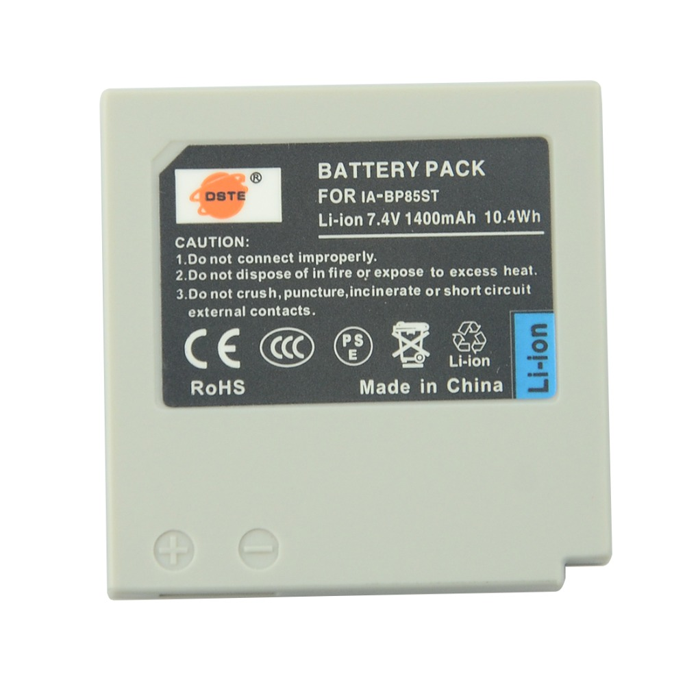 DSTE IA-BP85ST Rechargeable Battery For SAMSUNG SC-HMX10 HMX10A HMX20 HMX20C MX10 MX10A MX10P MX10R VP-HMX08 HMX10 Camera
