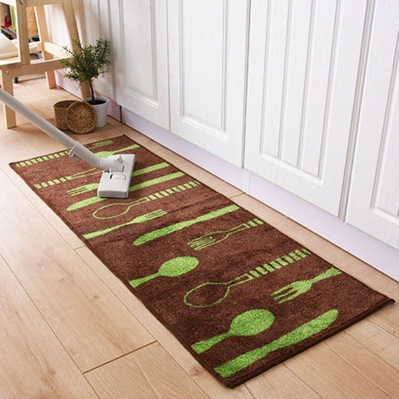 8mm thickness floor mat tableware pattern rugs bathroom kitchen carpet make your house clean and sweet