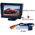 """Fábrica vendendo 4.3 """"hd lcd monitor do carro com câmera traseira do carro com 8 led para Volkswagen PASSAT B5/Jetta/Touran/Caddy"""