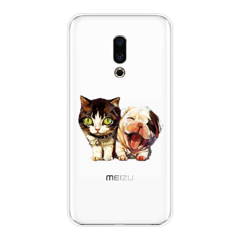 Telefon Fall Silikon Für Meizu 15 Lite 16 Plus 16th 16x Shiba Inu Hund Kawaii Katze Weiche Rückseitige Abdeckung Für meizu U10 U20 Pro 6 7 Plus