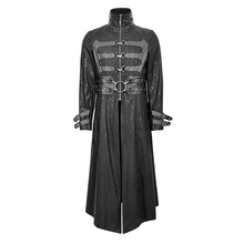 Punk Winter Men Trench Coats Hot Sale Black Coats For Male Long Jackets With Buckle Gothic Thick Windbreaker Stand Neck Outwear
