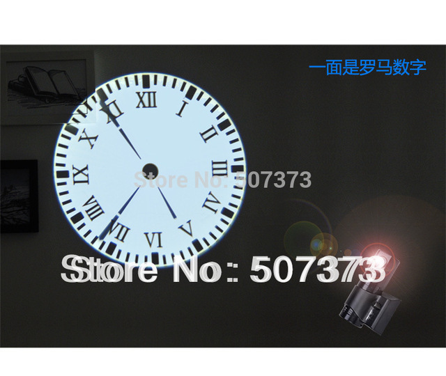 Project Roman Numbers Surface 3d Wall Digital Projector Clocks Bright Atmos  Led Time Ceiling Projection Clock