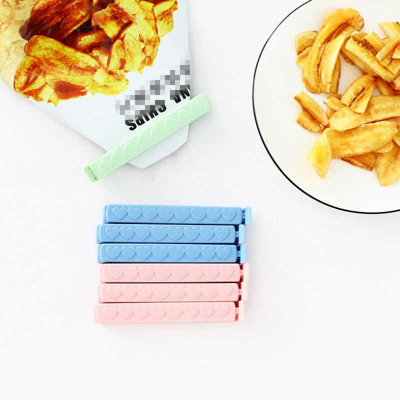 5pcs/lot Food Snack Clip Seal Storage Sealing Seal Bag Clips Sealer Clamp Food Bag Clips Kitchen Tool Home Food Close