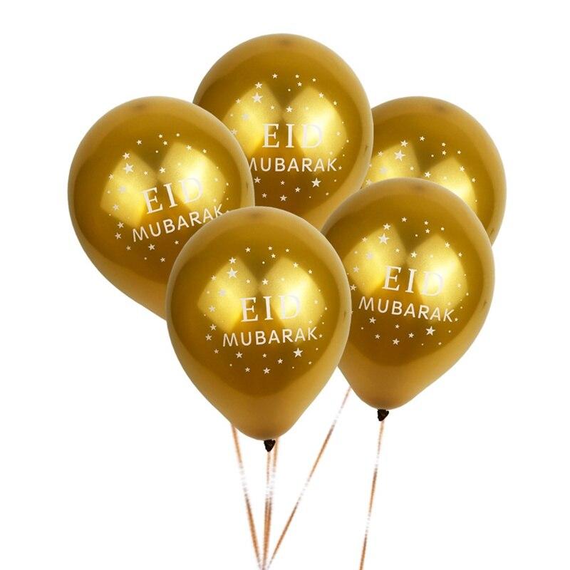 50 Latex EID Mubarak Ballons Abaya Hijab Muslim Celebration Balloons