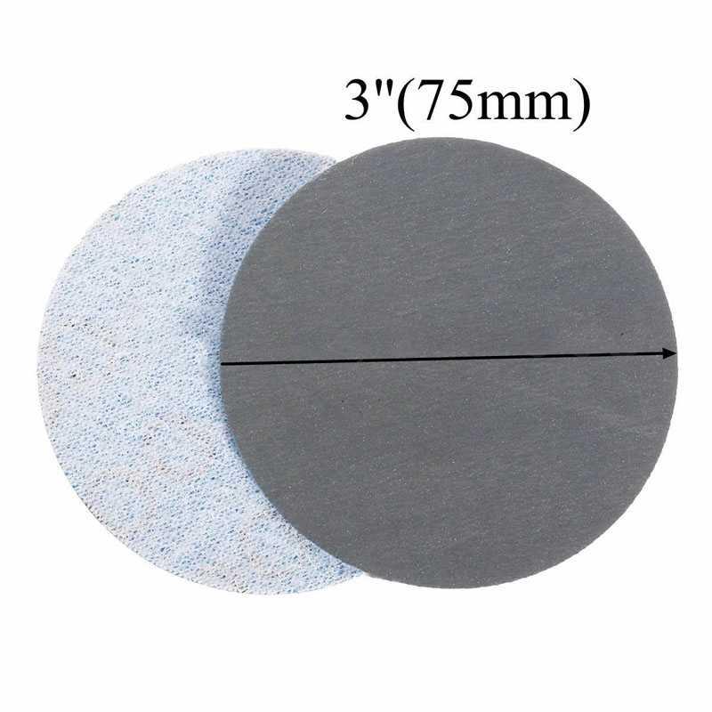 100 pièces 3000 grain ponceuse disque 3 pouces ponçage papier tampons de polissage papier abrasif disque de ponçage pour outils de ponçage abrasifs