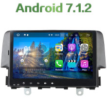 "1 din Android 7.1.2 Quad core 10.1"" 2GB RAM Bluetooth MP3 MP4 Bluetooth Stereo Multimedia Radio Player HD For Honda CIVIC 2016"