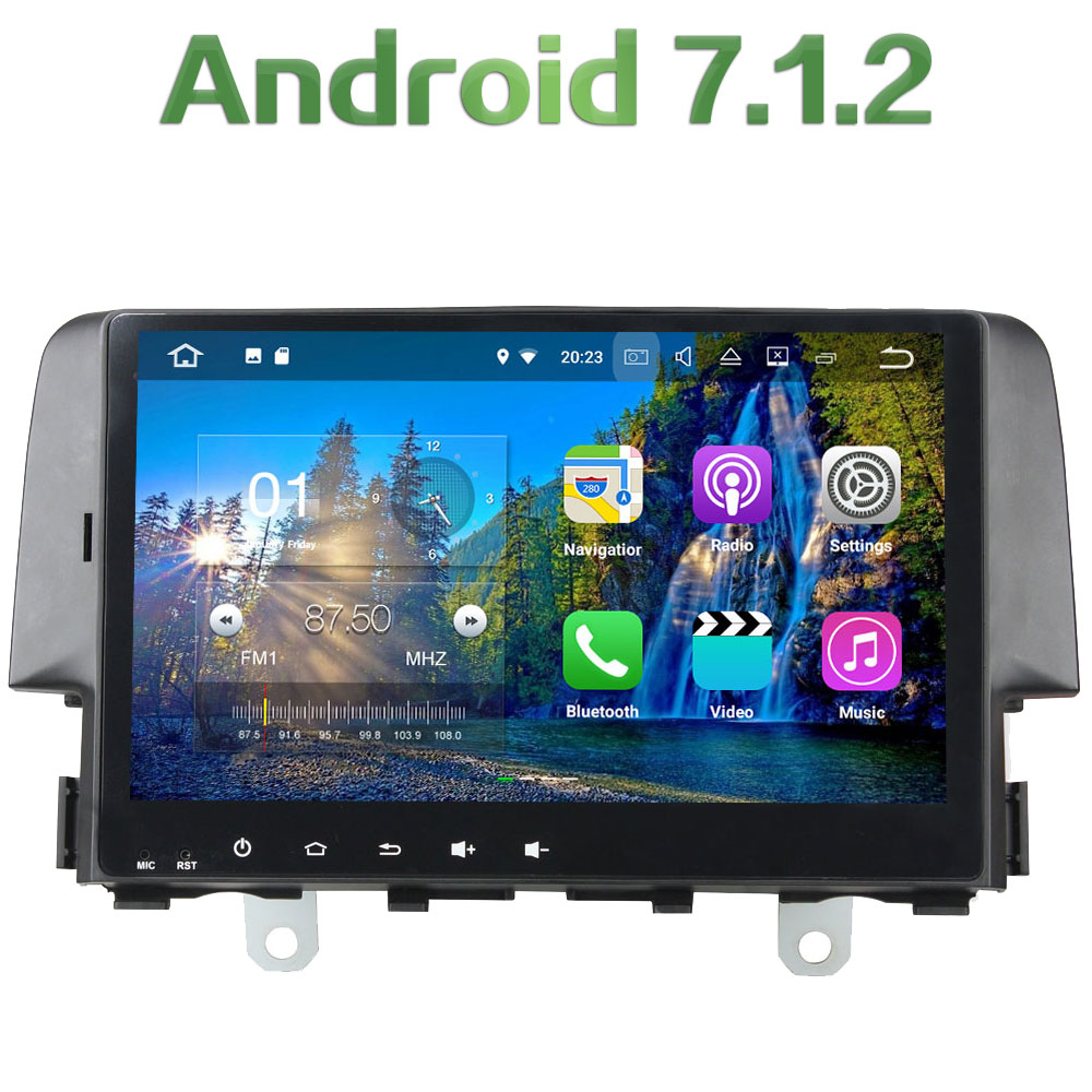 1 din Android 7 1 2 Quad core 10 1 2GB RAM font b Bluetooth b