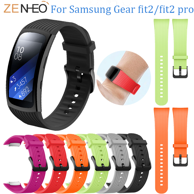 For Samsung Gear Fit 2 Pro Silicone Watchband watch strap for Samsung Gear Fit 2 bracelet wristbands Smart accessories bands