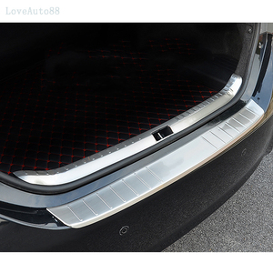 Image 3 - Car Exterior Interior Rearguards Rear bumper Trunk Trim Bumper Pedal Stainless Steel For Toyota Corolla 2014 2015 2016 2017 2018