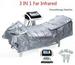 عرض ساخن!!! أحدث 3 في 1 ماكينة الضغط العلاجي/ العلاج بالضغط الليمفاوية الصرف EMS التخسيس تدليك دعوى آلة CE الشحن السريع