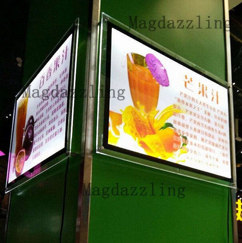 10 STÜCKE X A2 Dünne LED Beleuchtete Acryl Plakatrahmen Menu Boards ...