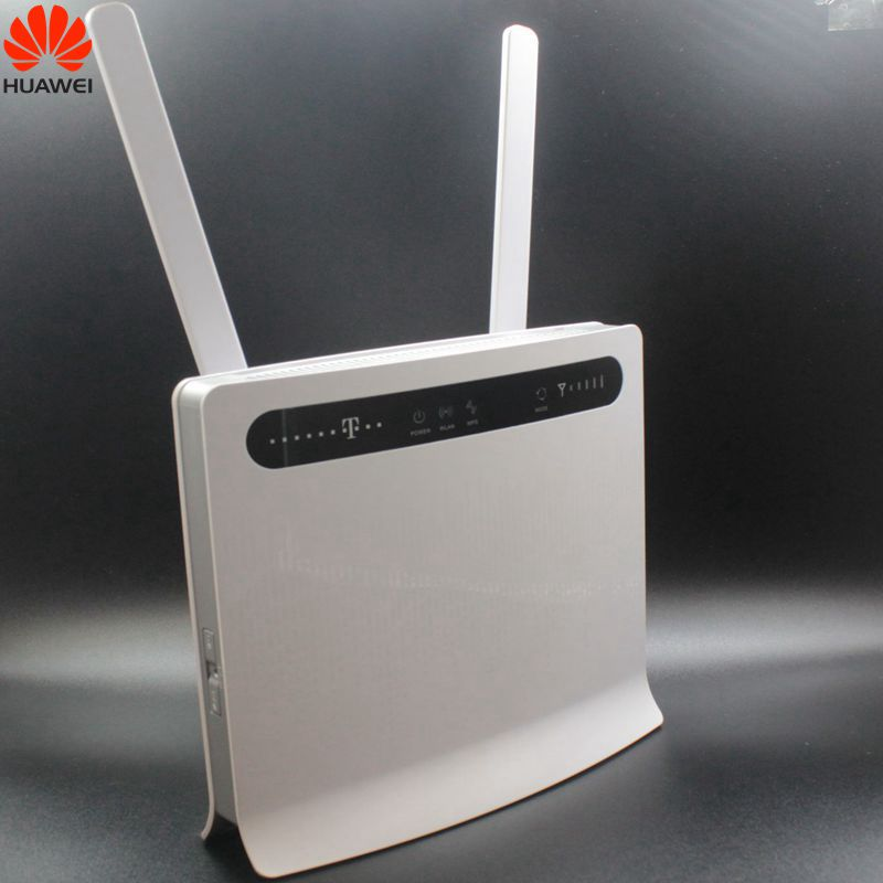 Unlocked Huawei B593 B593u-12 Plus Antenna 4G LTE 100Mbps CPE Router with Sim Card Slot 4G LTE Router with 4 Lan Port PK B310 lot of 100pcs huawei b593u 12 4g lte wireless cpe router gateway 100mbps wifi hotspot sim card 2pcs b593 4g antenna dhl shipping