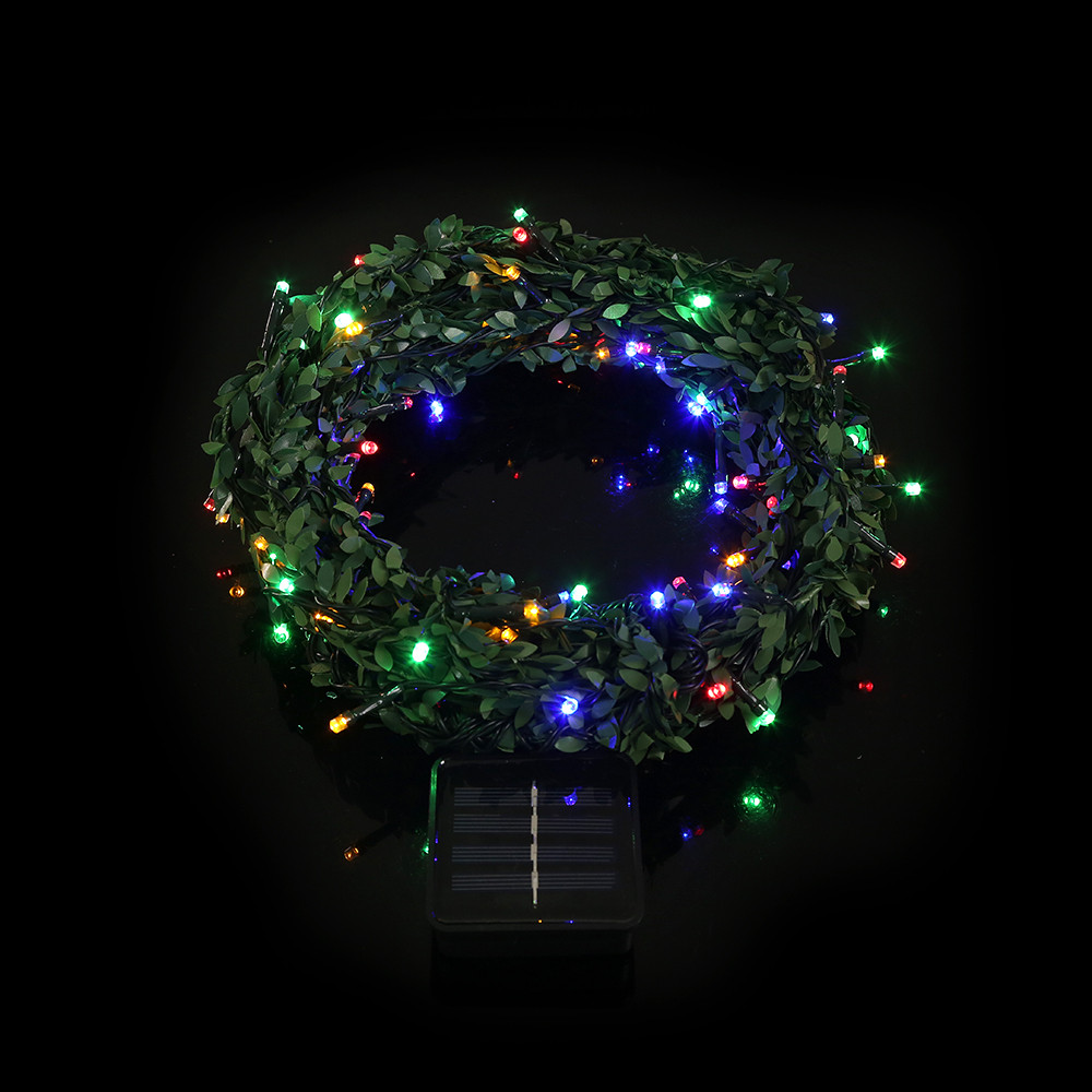 Xmas Decoration 100 Led Rattan Solar Powered Lighting Lamps Lamp Circuit String Lights Christmas Trees Decorgh In Underwear From Mother