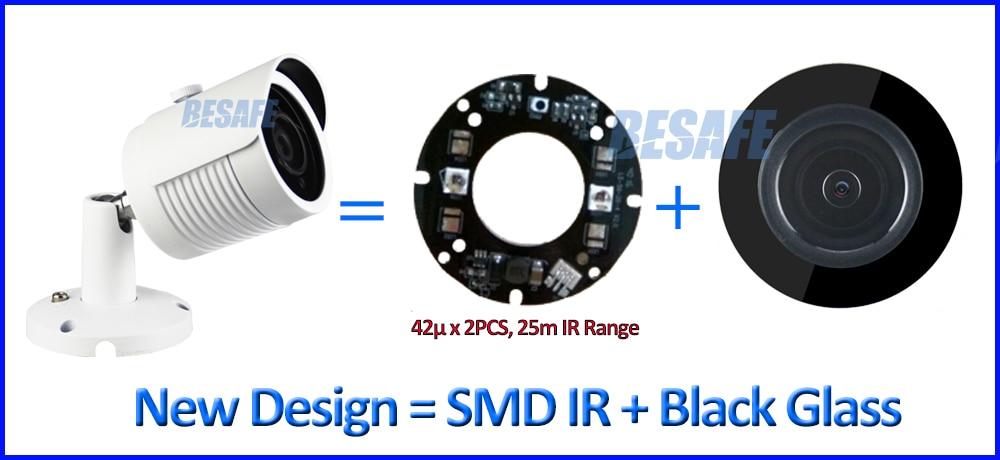 IMX123 3.2MP Sensor 3.0MP 2MP ip cam ONVIF Hi3516D 1080P poe ip camera outdoor P2P surveillance SMD IR LED 4MP HD Lens + bracket