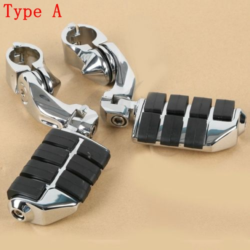 "1-1//4/"" Highway Foot Pegs Footrest Engine Guard Mounts Clamps For Harley"