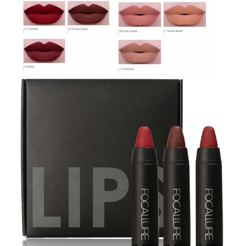 Light Nude Brown Matte Liquid Lip Gloss Lipstick Long