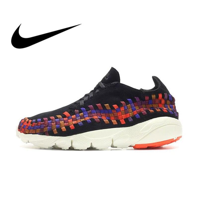 Officiel authentique Nike Lab Air Footscape tissé NM chaussures de course pour hommes à lacets baskets basses chaussures respirantes résistantes à l'usure
