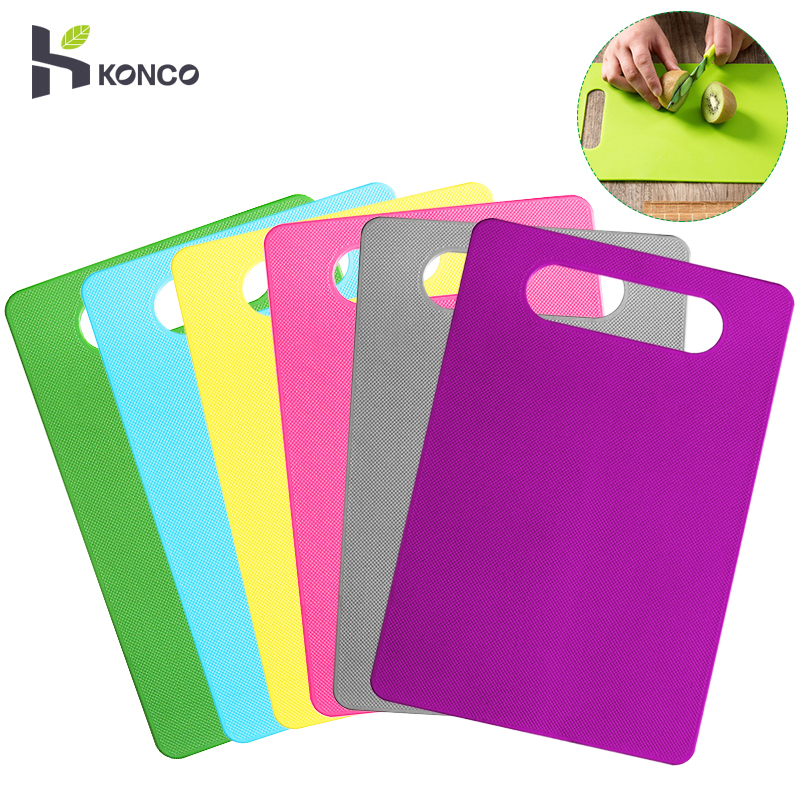KONCO Plastic Cutting Board Foods Classification Boards Outdoors Camping Vegetable Fruits Meats Bread Cutting  Chopping Blocks