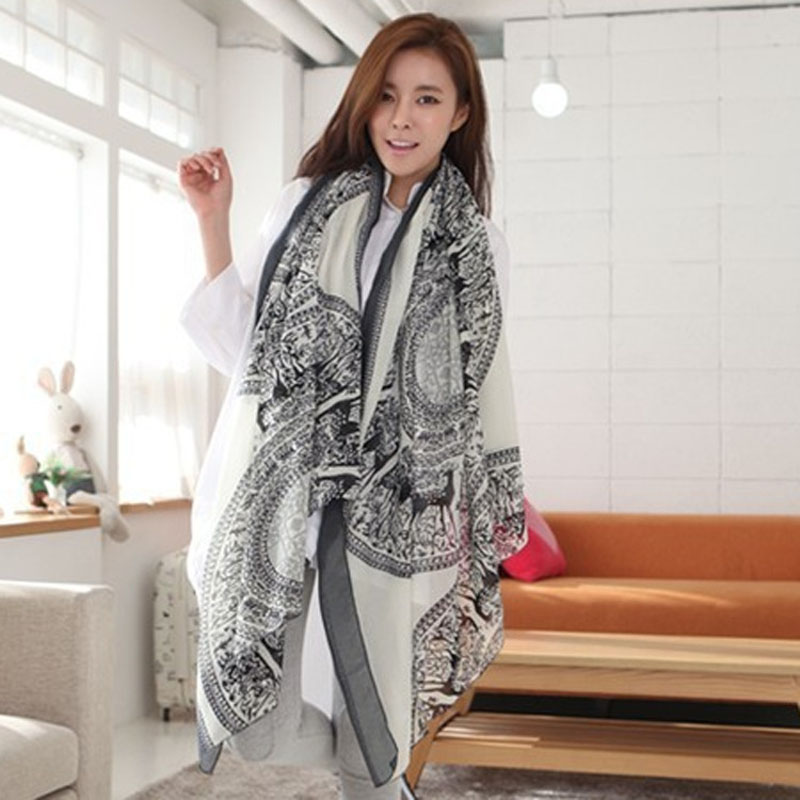 ae098af3b15e6 100% Brand New High Quality Womens Ladies Long Soft Deer pattern Scarf Wrap  Large Winter Shawl Stole Scarves High Quality-in Women's Scarves from  Apparel ...